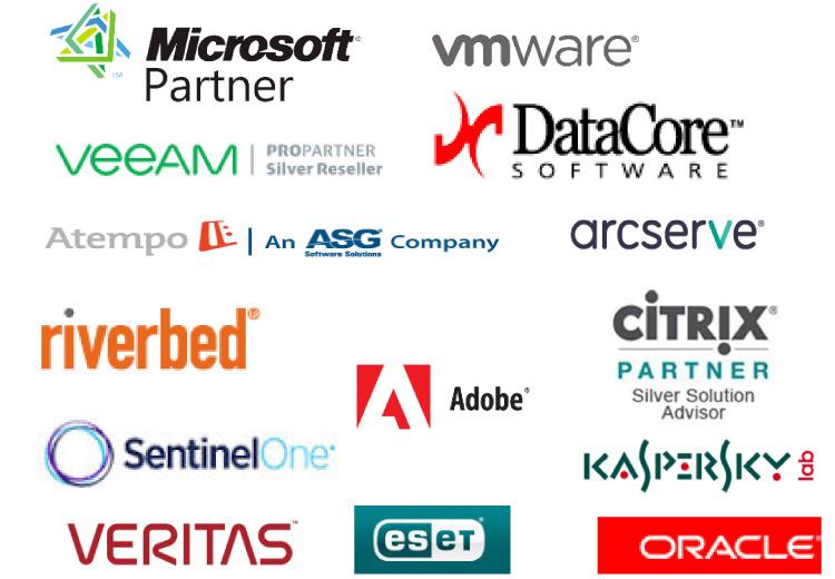 Partenaires éditeurs de la société Data7 à Nantes